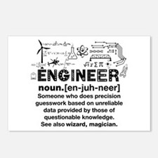 Funny Engineer Definition Postcards (Package of 8)