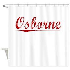 Osborne, Vintage Red Shower Curtain