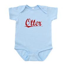 Otter, Vintage Red Infant Bodysuit