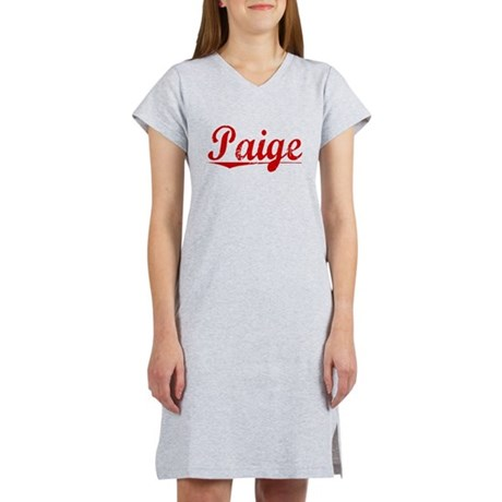 Paige, Vintage Red Women's Nightshirt