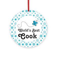 Worlds Best Cook Ornament (Round)