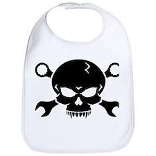 Skull 'n' Tools - Pirate Skull 2 (black) Bib