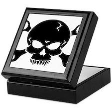 Skull 'n' Tools - Pirate Skull 2 (black) Keepsake
