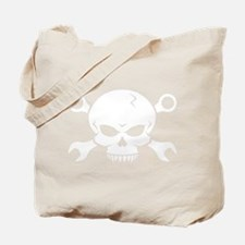 Skull 'n' Tools - Pirate Skull 2 (white) Tote Bag