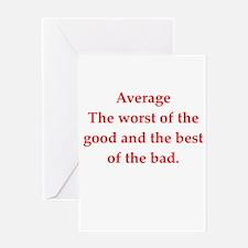 average Greeting Card