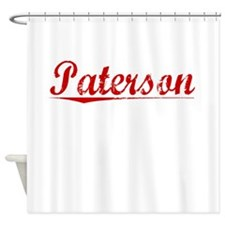 Paterson, Vintage Red Shower Curtain