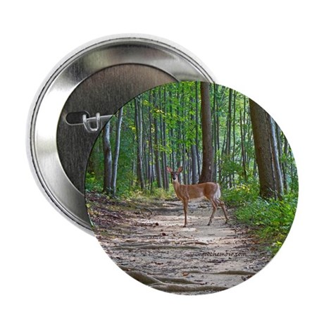 "Beautiful doe in forest 2.25"" Button (10 pack)"