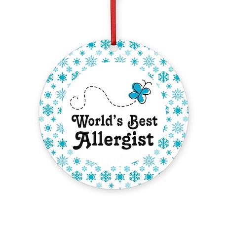Allergist (Worlds Best) Gift Ornament (Round)