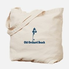 Old Orchard Beach ME - Lighthouse Design. Tote Bag