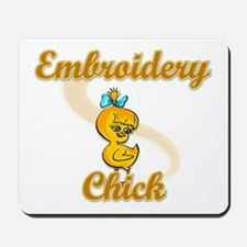 Embroidery Chick #2 Mousepad