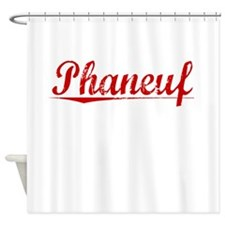 Phaneuf, Vintage Red Shower Curtain