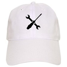 Crossed screwdriver wrench Baseball Cap