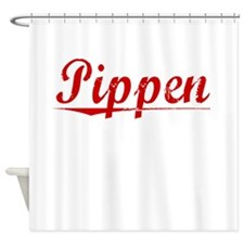 Pippen, Vintage Red Shower Curtain