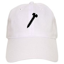 Black screw icon Baseball Cap