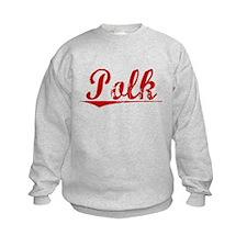 Polk, Vintage Red Sweatshirt
