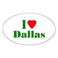 I Love Dallas Oval Decal
