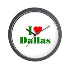 I Love Dallas Wall Clock