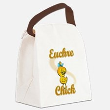 Euchre Chick #2 Canvas Lunch Bag