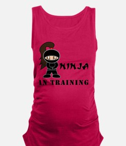 Brunette Ninja In Training Tank Top