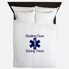 Busting Ours, Saving Yours Queen Duvet