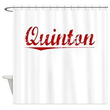 Quinton, Vintage Red Shower Curtain