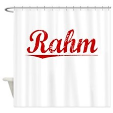 Rahm, Vintage Red Shower Curtain