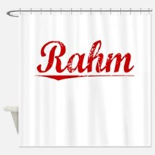 Rahm, Vintage Red Shower Curtain
