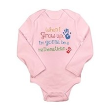 Kids Future Mathematician Long Sleeve Infant Bodys
