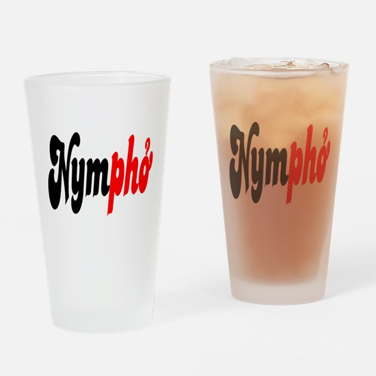 Nympho Drinking Glass