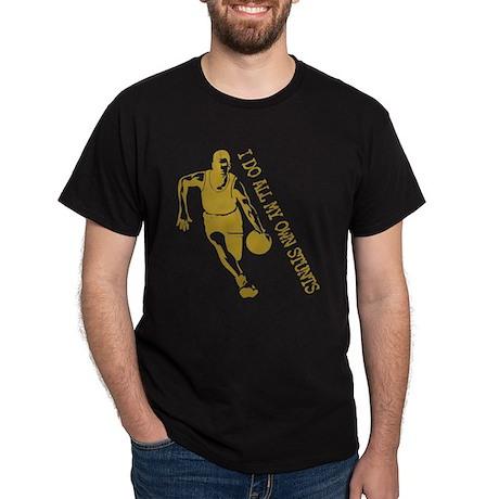 Basketball Stunts Black T-Shirt