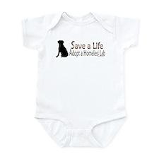 Adopt Homeless Lab Infant Bodysuit