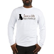 Adopt Homeless Lab Long Sleeve T-Shirt