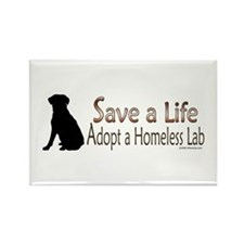 Adopt Homeless Lab Rectangle Magnet