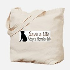 Adopt Homeless Lab Tote Bag