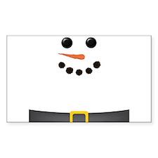 Snowman Face Decal