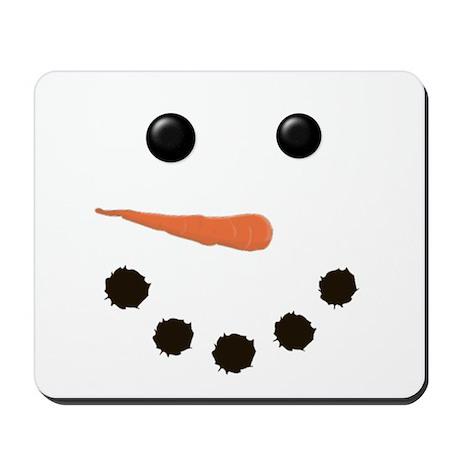Cute Snowman Face Mousepad