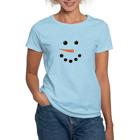 Cute Snowman Face Women's Light T-Shirt