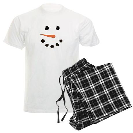 Cute Snowman Face Men's Light Pajamas
