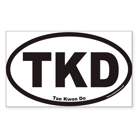Tae Kwon Do TKD Euro Oval Sticker
