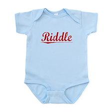 Riddle, Vintage Red Infant Bodysuit