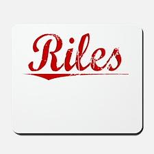 Riles, Vintage Red Mousepad