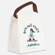 snowboarder-light.png Canvas Lunch Bag