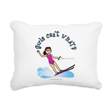 water-skier-light.png Rectangular Canvas Pillow