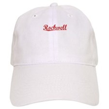 Rockwell, Vintage Red Baseball Cap