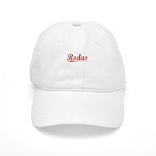 Rodas, Vintage Red Baseball Cap