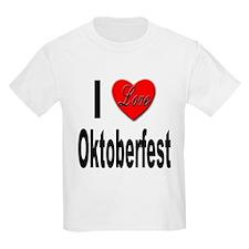 I Love Oktoberfest (Front) Kids T-Shirt