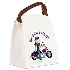 3-biker-white-purple-light.png Canvas Lunch Bag