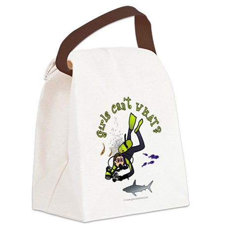 diver-light.png Canvas Lunch Bag