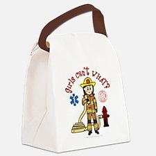 Custom Firefighter Canvas Lunch Bag