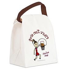 (Candace) Custom Basketball Canvas Lunch Bag